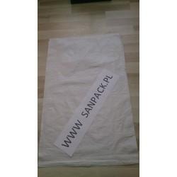 worek polipropylenowy biały 65 x 105 cm., 82 g.  (1000 szt)