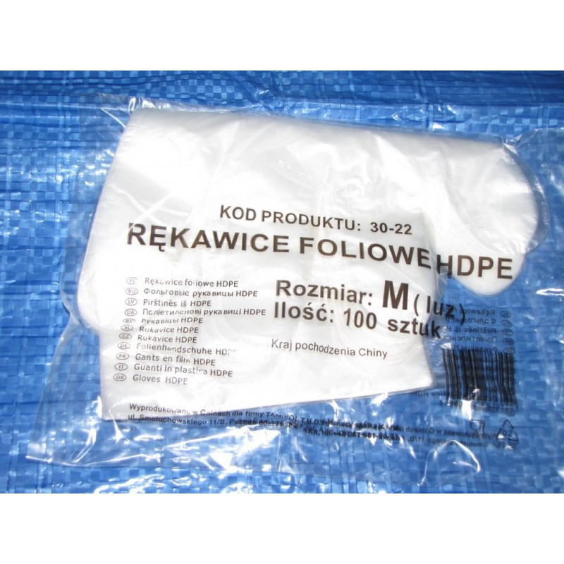 Rękawice foliowe HDPE ( 100 sztuk)