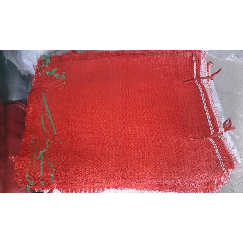 worek raszlowy 10-15 kg. czerwony 40x60 cm import(1000 szt)