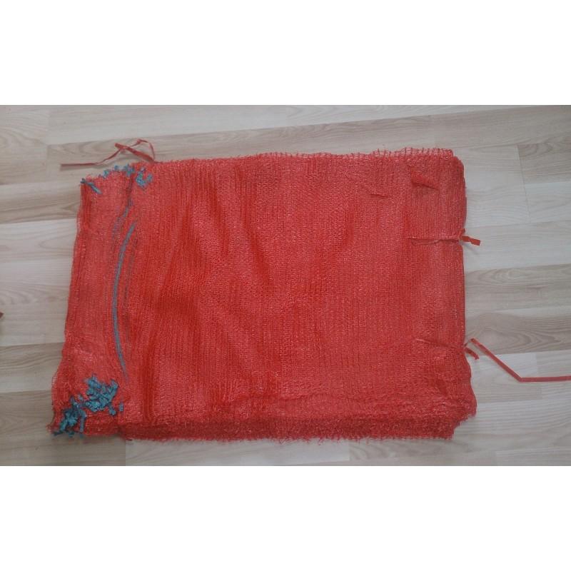 worek raszlowy  czerwony  25-30 kg 50x80 cm (100 szt)
