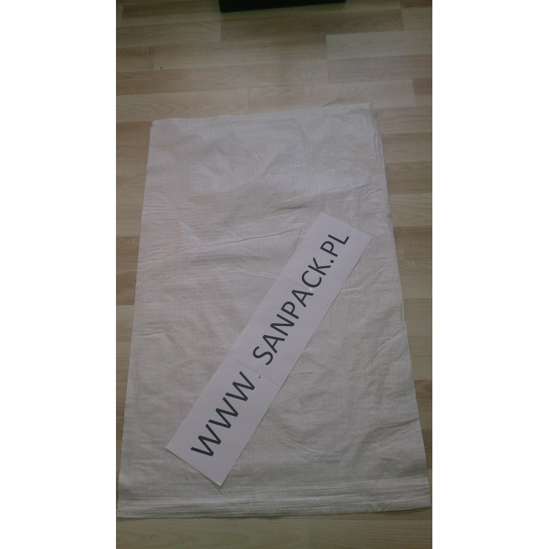 worek polipropylenowy biały 65 x 105 cm., 82 g.  (100 szt)