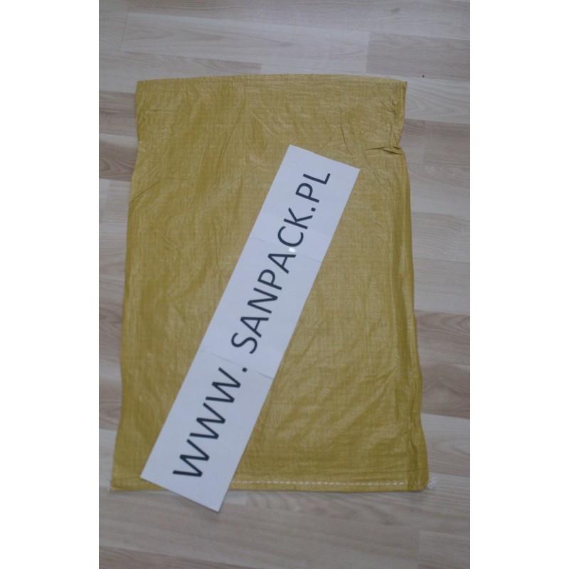 worek polipropylenowy żólty  55x80 cm 49 g 1000 szt