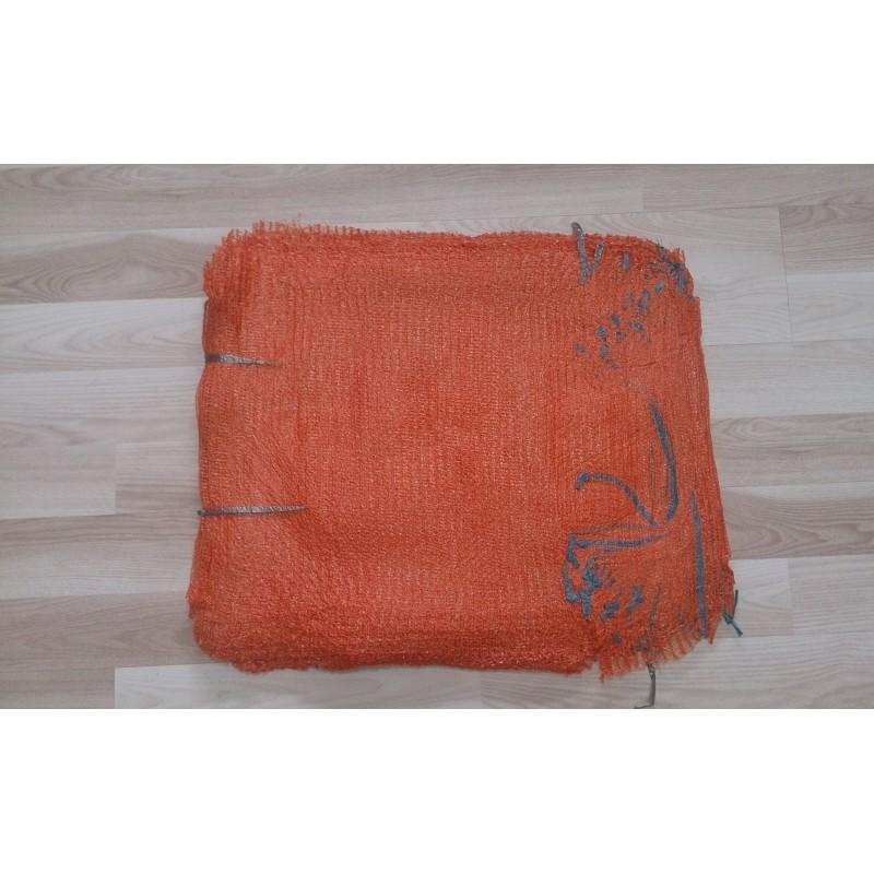 worek raszlowy 10-15 kg. pomarańczowy  ciemny 40x62 cm import(1000 szt)