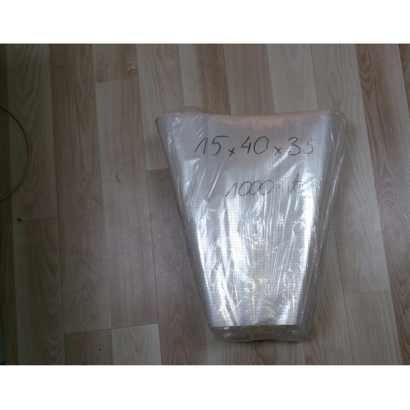Rożki foliowe perforowane 15x40x35 cm a 1000 szt