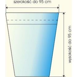 Rożki foliowe perferowane 12x25x25 cm a 1000 szt