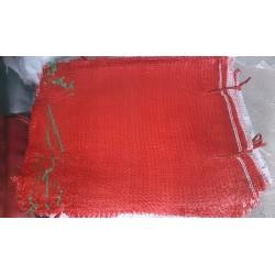 worek raszlowy 10-15 kg. czerwony 40x62 cm import(100 szt)