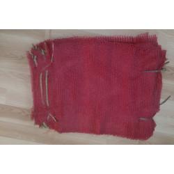 worek raszlowy 10-15 kg. bordowy 40x60 cm import(1000 szt)