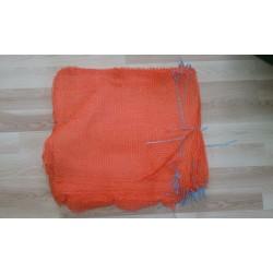 worek  raszlowy 10 kg. 38x60 cm.pomarańczowy,  polski(1000 szt)