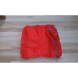 worek raszlowy 10 kg. czerwony 38x60 cm polski (1000 szt)