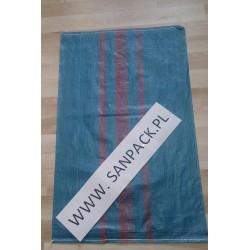 worek polipropylenowy niebieski 65 x 105 cm., 82 g.  (100 szt)