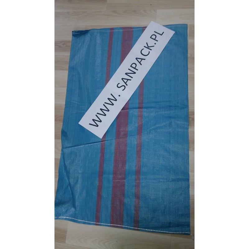 worek polipropylenowy niebieski 65 x 105 cm., 76 g.  (1000 szt)