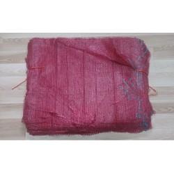 worek raszlowy bordowy  25-30 kg 50x80 cm (100 szt)