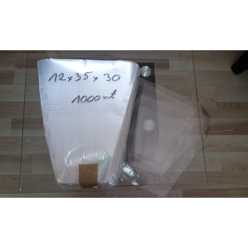 Rożki foliowe perforowane 12x35x30 cm a 1000 szt.