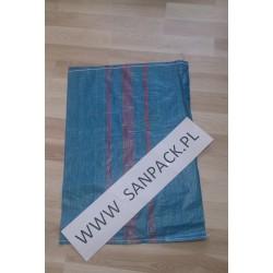 worek polipropylenowy niebieski 55x80 cm 50 g 1000 szt